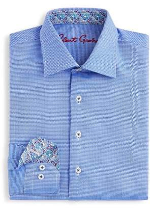 Robert Graham Boys' Joy Neat Textured Dress Shirt - Big Kid