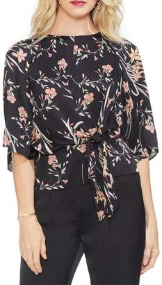 Vince Camuto Bell Sleeve Tie Front Top