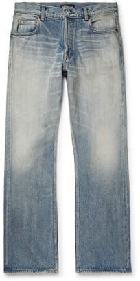 Balenciaga Distressed Denim Jeans - Light blue