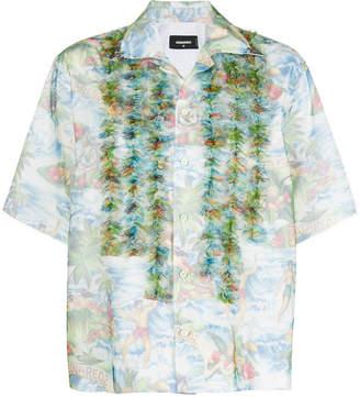 DSQUARED2 ruffle-trimmed Hawaiian shirt