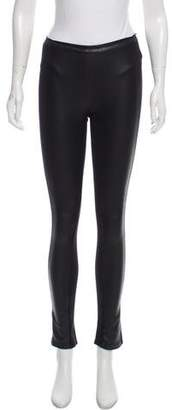 BCBGMAXAZRIA Leather-Accented Leggings