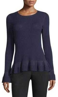 MICHAEL Michael Kors Stitch Textured Bell-Sleeve Top