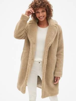Gap Long Teddy Coat