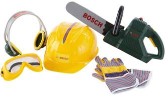 Bosch Toy Chainsaw, Helmet and Work Gloves