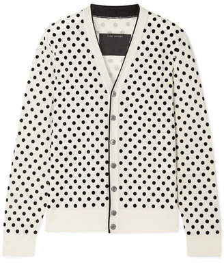 Marc Jacobs Flocked Wool Cardigan - Ivory