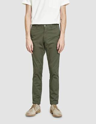 Norse Projects Aros Slim Light Stretch Pant in Dried Olive