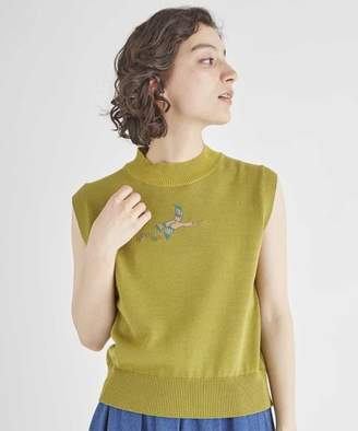 Jocomomola (ホコモモラ) - Jocomomola PAJAROS KNIT 渡り鳥モチーフ デザイン刺繍ニットベスト
