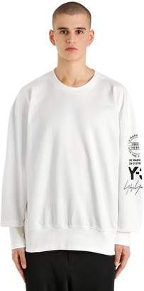 Y-3 Oversize Graphic French Terry Sweatshirt