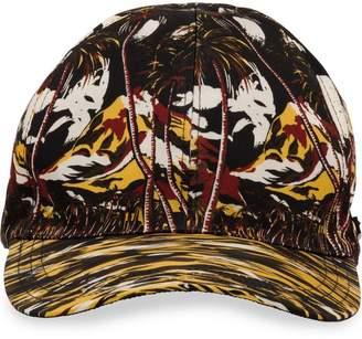 Prada tropical-print cap