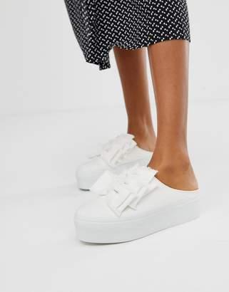 Asos Design DESIGN Durham bow mule sneakers