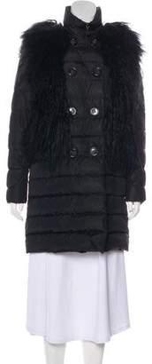 Moncler Lamb-Trimmed Mari Coat