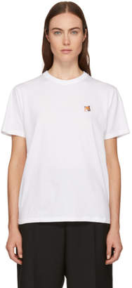 MAISON KITSUNÉ White Fox Head Patch T-Shirt