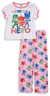 Ame Sleepwear Little Girls PJ Masks Tee and Pants Pajama Set $36 thestylecure.com