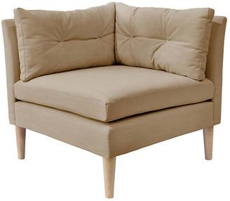 One Kings Lane Madeline Corner Chair - Sand Linen
