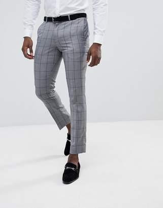 Burton Menswear Suit Pants In Grey Check