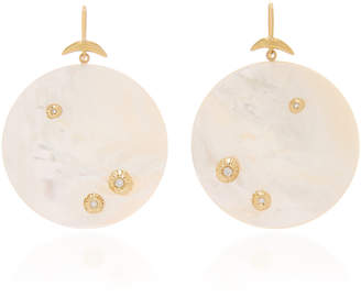 Annette Ferdinandsen Large Luna Earring with diamonds