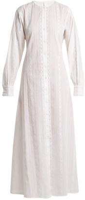 Merlette - Kir Round Neck Eyelet Lace Cotton Dress - Womens - White