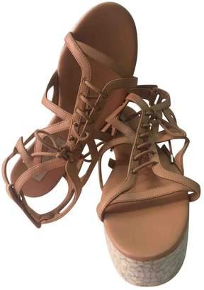 Stella McCartney Stella Mc Cartney Beige Leather Sandals