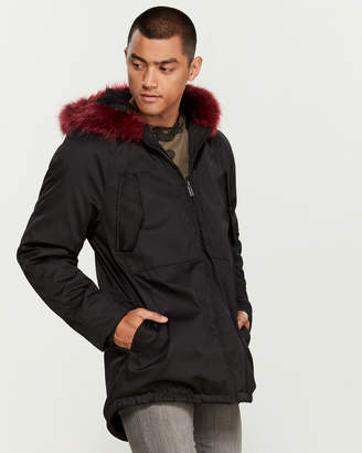 NATIVE YOUTH Ease Faux Fur-Trimmed Parka