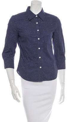 Boy. by Band of Outsiders Polka Dot Button-Up Top $75 thestylecure.com