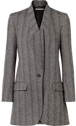 Stella McCartney Bryce Herringbone Wool-blend Coat - Black