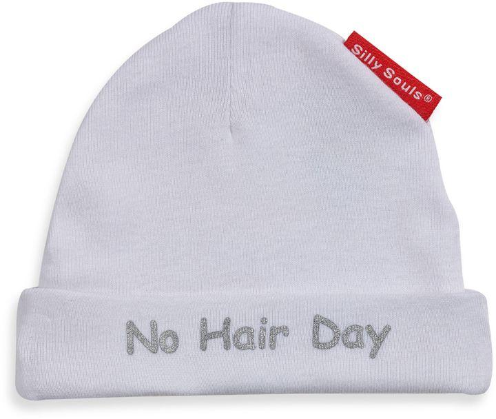 Silly Souls No Hair Day® in Beanie in Newborn-6 months in White