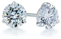 Kwiat 1ct tw Diamond & Platinum Stud Earrings