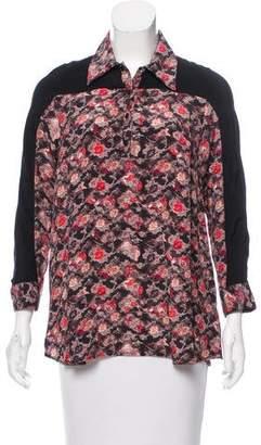 Tanya Taylor Silk Floral Top