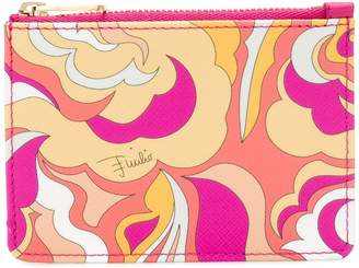 Emilio Pucci abstract print zipped purse