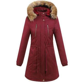 8c8685ab32abc Tootu Women Tops Tootu Women Plus Size Winter Warm Thick Outerwear Hooded  Cotton-Padded Jacket