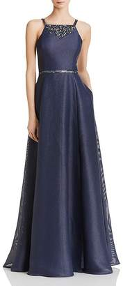 Aidan Mattox Embellished Shimmer Gown