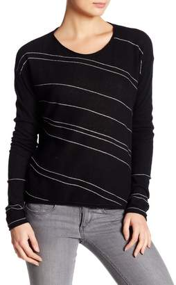 Inhabit Crew Neck Long Sleeve Print Cashmere Blend Sweater
