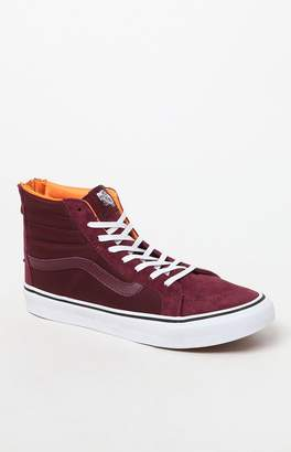 Vans Women's Burgundy Sk8-Hi Slim Zip Sneakers