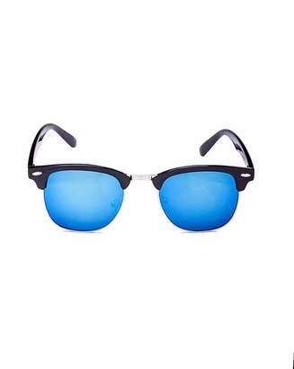 VivaLaDiva Luna Clubmaster Style Black Sunglasses