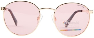 Polaroid Pink Metal Sunglasses