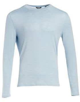 Saks Fifth Avenue COLLECTION Long Sleeve Curved Hem Crewneck Tee