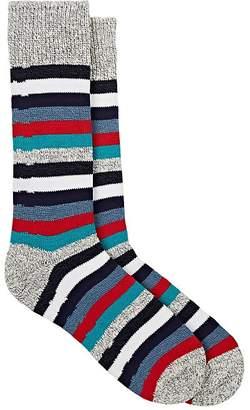 Corgi Men's Striped Cotton Mid-Calf Socks