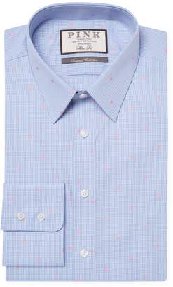 Thomas Pink Men's Linden Spot Slim Fit Cotton Dress Shirt