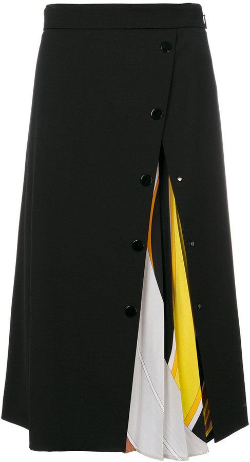 Emilio Pucci tear plisse skirt