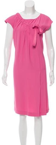 pradaPrada Pleated Midi Dress