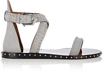 Givenchy Women's Elegant Studded Suede Sandals