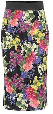 Dolce & Gabbana Floral stretch silk pencil skirt
