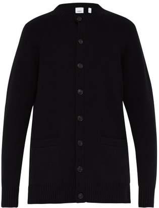 Burberry Long Line Cashmere Cardigan - Mens - Black