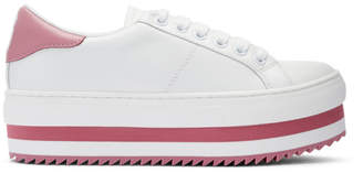 Marc Jacobs White Grand Platform Sneakers