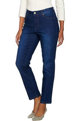 Isaac Mizrahi Live! TRUE DENIM Regular 5-Pocket Ankle Jeans