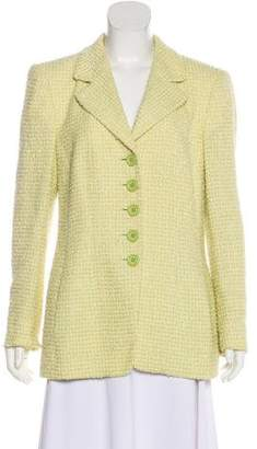 Akris Notch-Lapel Tweed Blazer