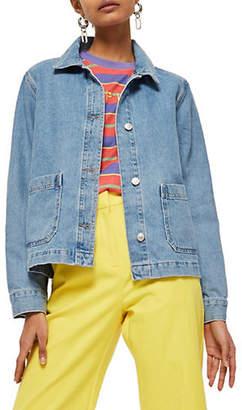 Topshop Denim Long Sleeve Jacket