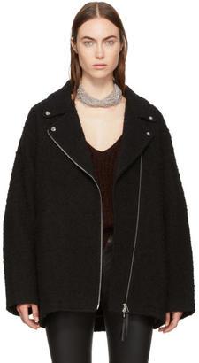 T by Alexander Wang Black Asymmetric Zip Coat