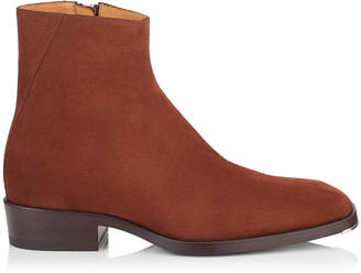 Jimmy Choo LUCAS Almond Dry Suede Ankle Boots
