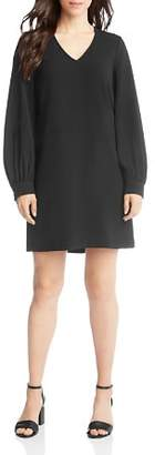 Karen Kane Blouson-Sleeve Crepe Shift Dress